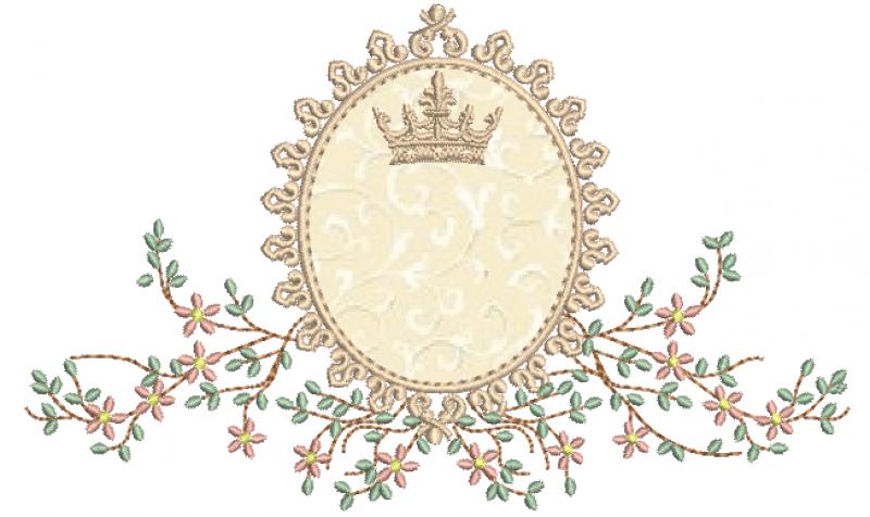 Ramo Delicado com Coroa e  Aplique