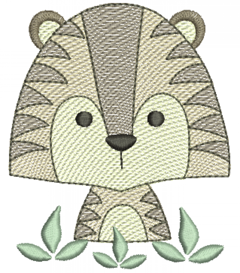 Tigre meio Corpo - Rippled