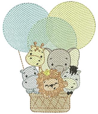balão com Animais - Rippled