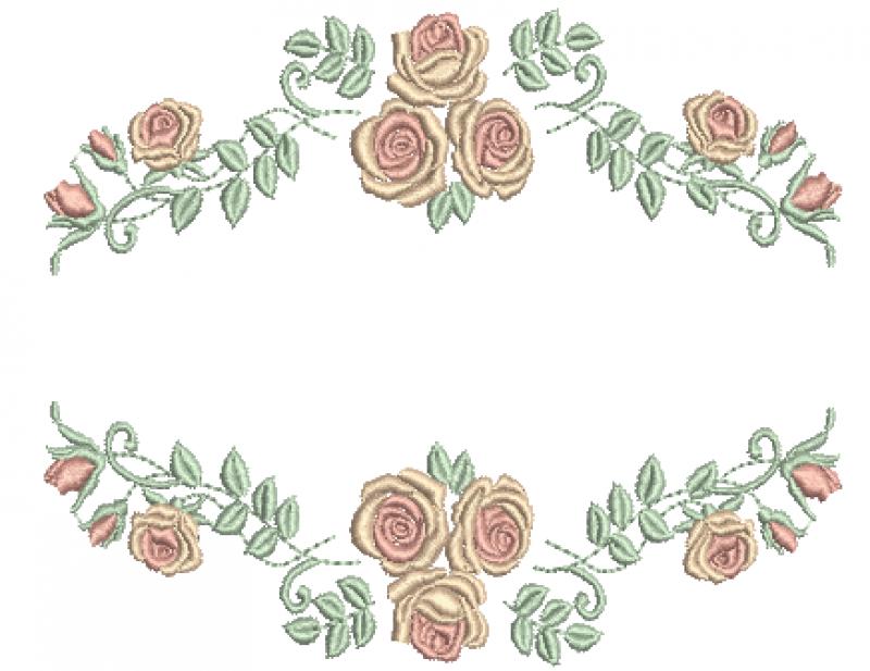 Entremeio Delicado de Rosas - Ponto Cheio