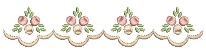 Barrinha de Rosas Rococó - Ponto Cheio