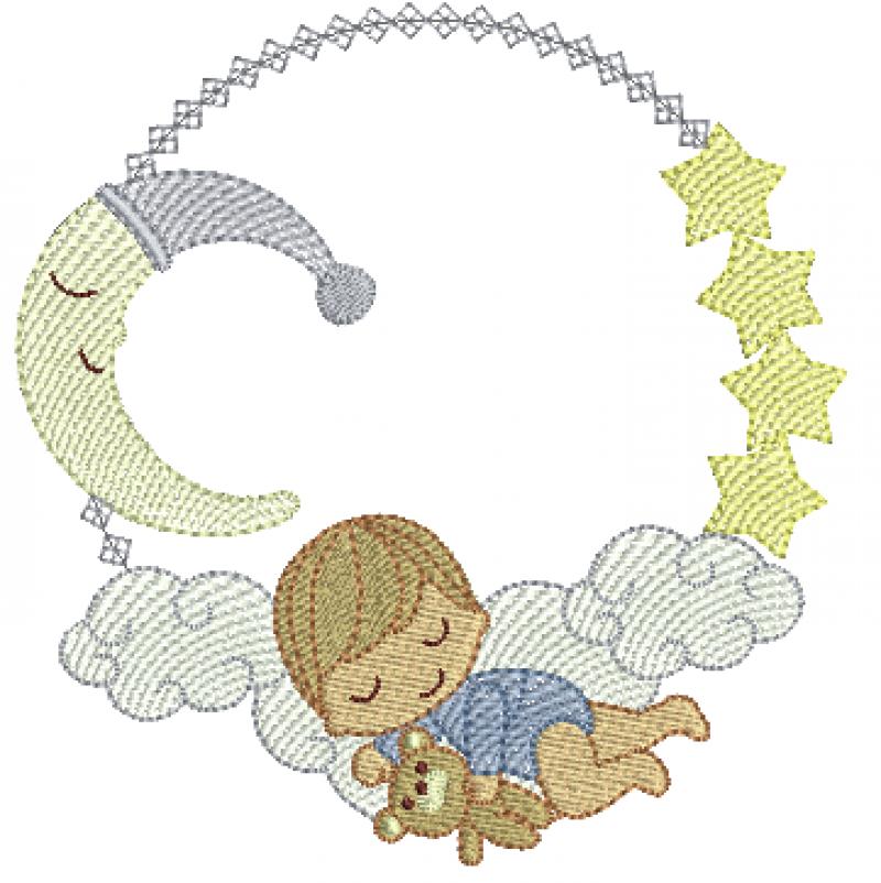 Bebê Dormindo na Nuvem - Rippled