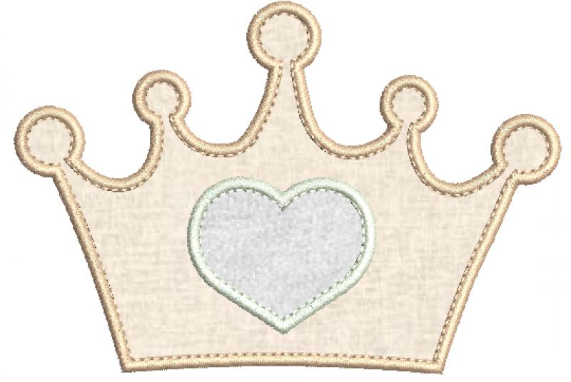 Coroa Princesa em Aplique