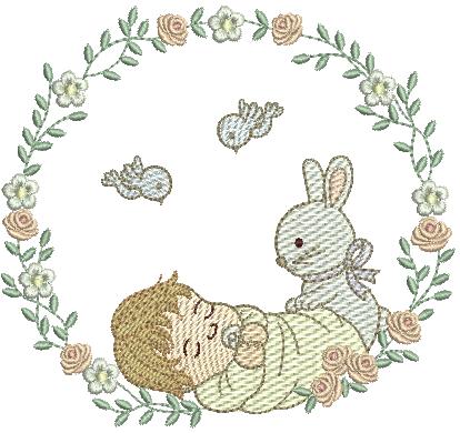 Bebê Dormindo na Moldura - Rippled