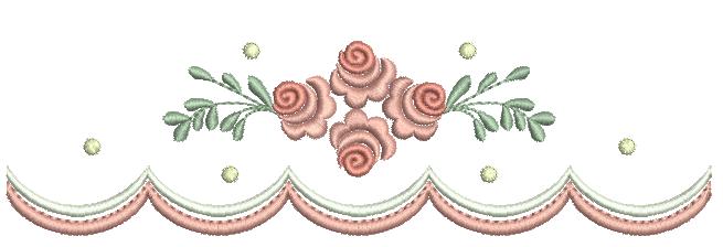 Barrinha com Ramo de Rosas