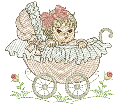 Bebê no Carrinho - Rippled