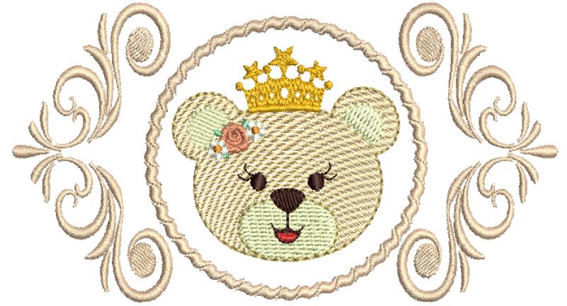 Arabesco com Cabeça de Ursa em Rippled