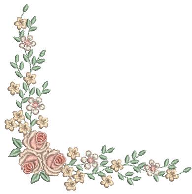 Cantoneira de Rosas e Flores – Ponto Cheio