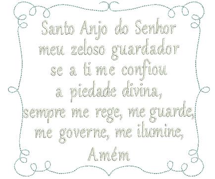 Oração santo Anjo com Moldura