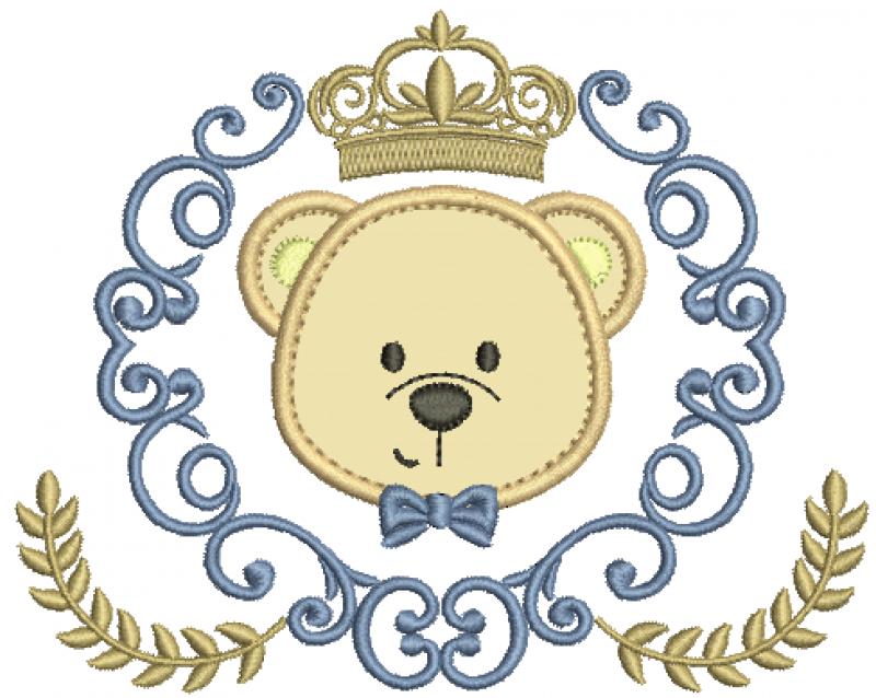 Moldura com Arabesco e Urso Real - Aplique