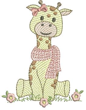 Girafa Sentada - Rippled