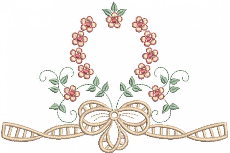 Guirlanda de Florzinhas e Laço em Richelieu