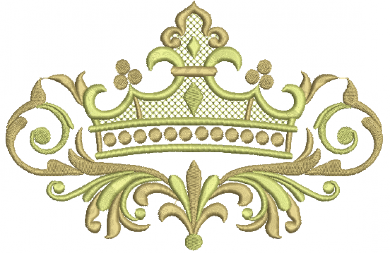 Coroa no Ramo com Arabesco e Crivo