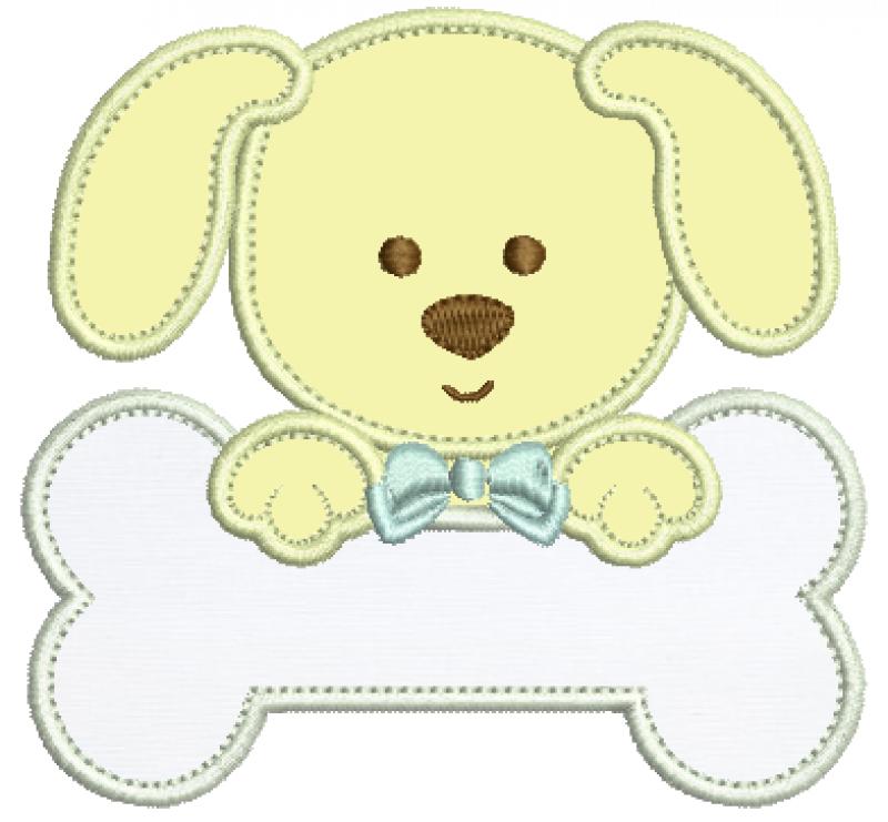 Cachorrinho no Osso - Aplique