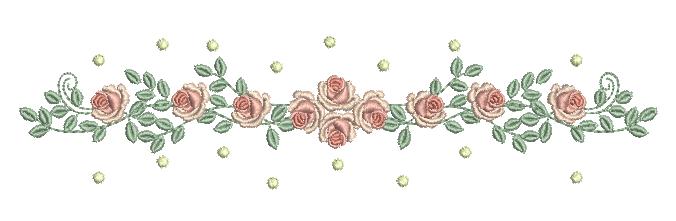Raminho de Rosas e Poás – Ponto Cheio