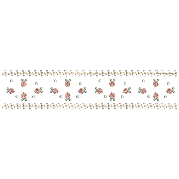 Barrado de Rosas Pequenas - Ponto Cheio
