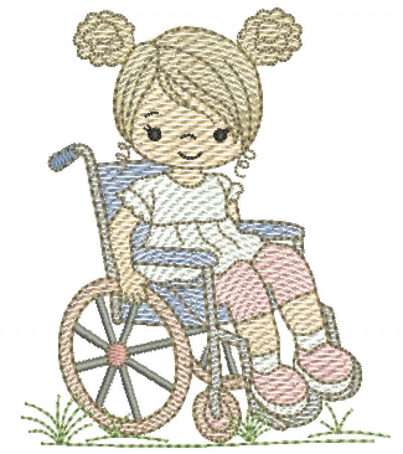 Menina Cadeirante - Rippled