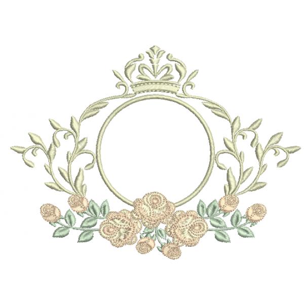 Moldura e Rosas – Ponto Cheio