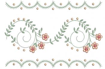 Ramo Delicado com Arabescos e Florzinhas