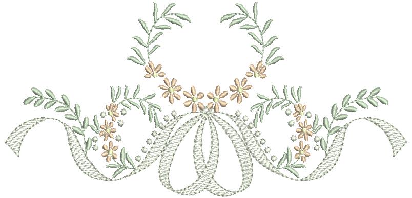 Laço e Florzinhas - Rippled