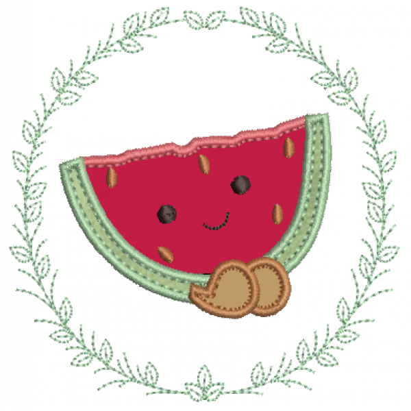 Melancia na Moldura - Aplique