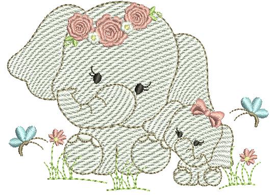 Elefanta e Filhote - Rippled