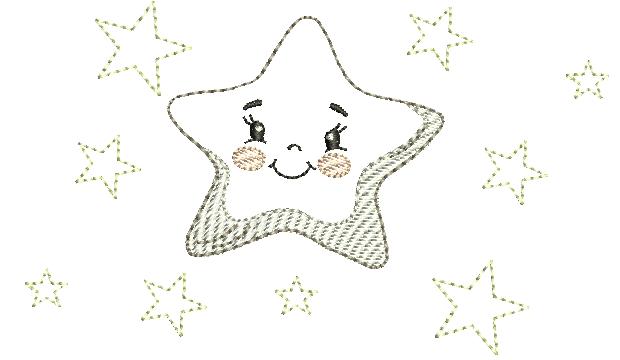 Estrela com Estrelinhas – Estilo Minimalista