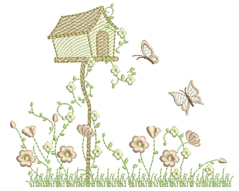 Casa de Passarinho no Jardim - Rippled