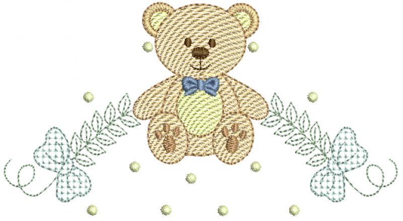 Urso com Raminhos - Rippled