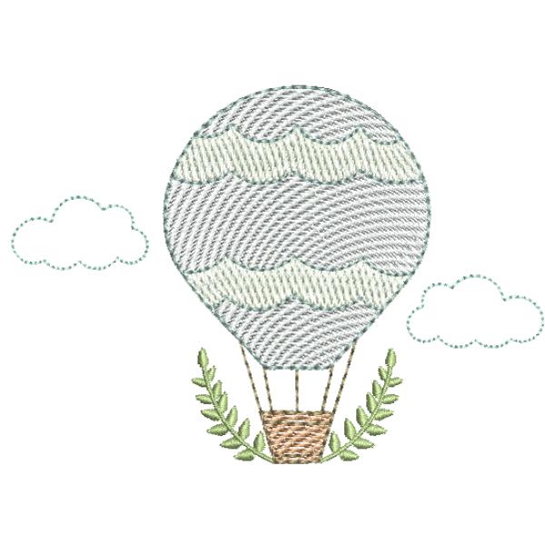 Balão com Ramos - Pontos Leves
