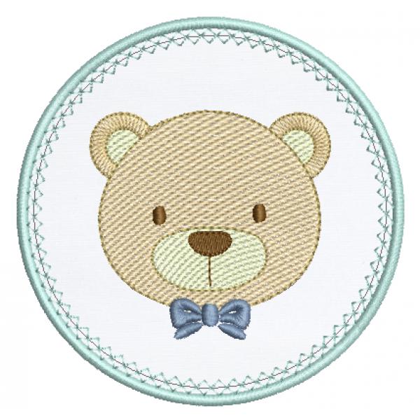 Urso e Moldura Aplique - Pontos Leves
