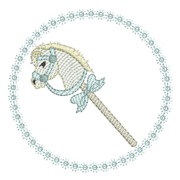 Cavalinho de Pau e Moldura - Pontos Leves