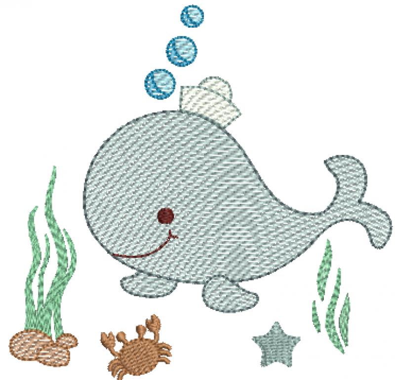 Baleia Menino no Fundo do Mar - Rippled