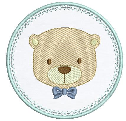 Urso Rippled na Moldura Aplique
