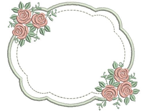 Moldura  com Rosas Laterias