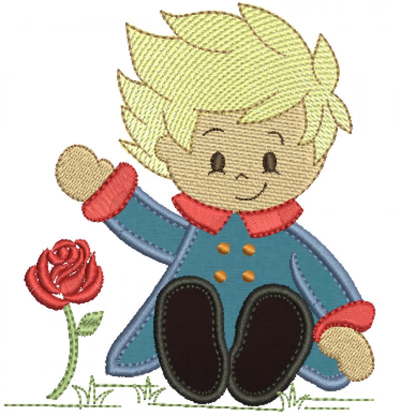 Pequeno Principe Sentado - Aplique