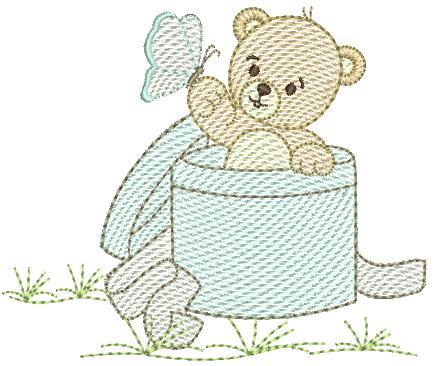 Urso na Caixa de Presente - Rippled