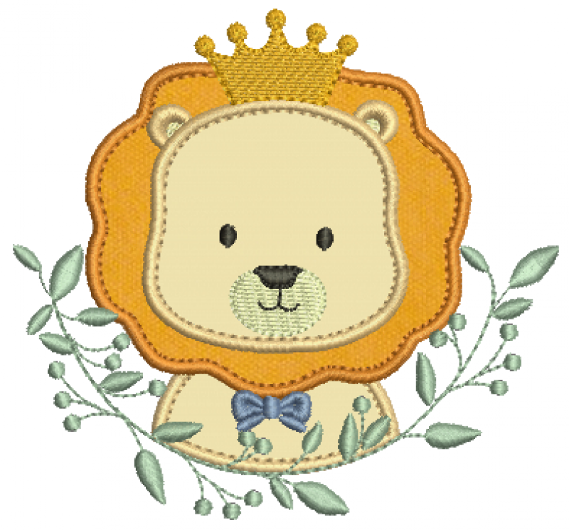 Leão Real no Ramo - Aplique