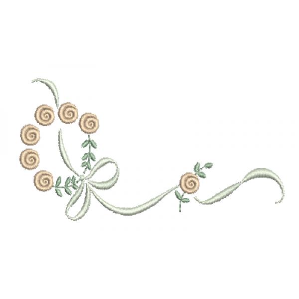 Rosas Pequenas e Laços - Ponto Cheio