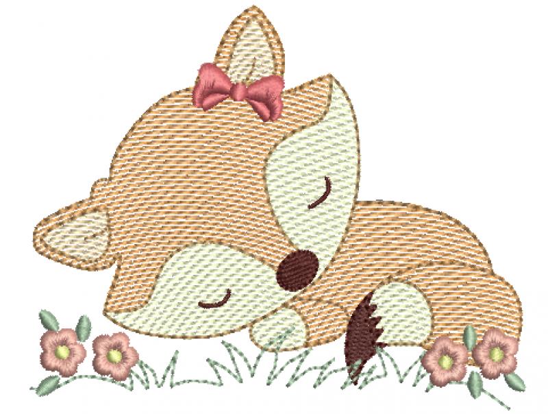Raposa Dormindo com Laço - Rippled