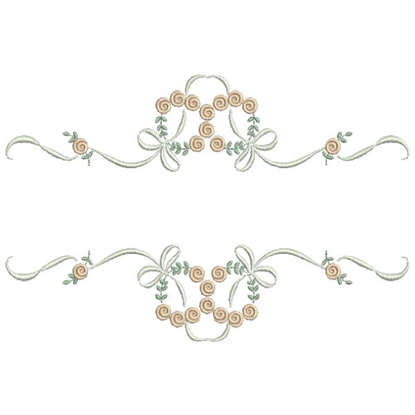 Rosas Pequenas  Entremeio e Laços - Ponto Cheio