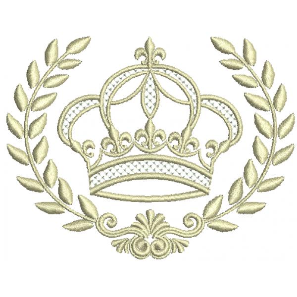 Coroa e Ramo de Louro - Ponto Cheio