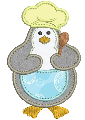 Pinguim Cozinheiro - Aplique