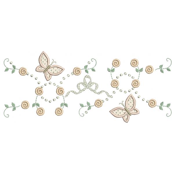 Rosas Pequenas e Borboletas 3D