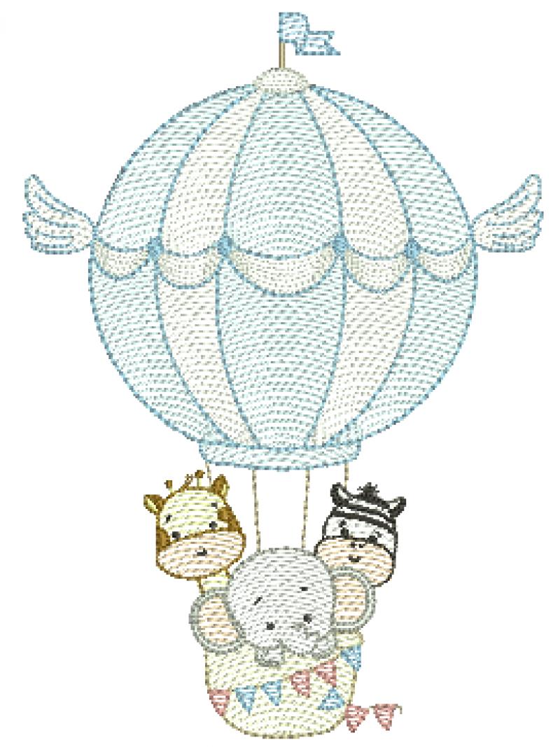Safari Fofo no Balão - Rippled