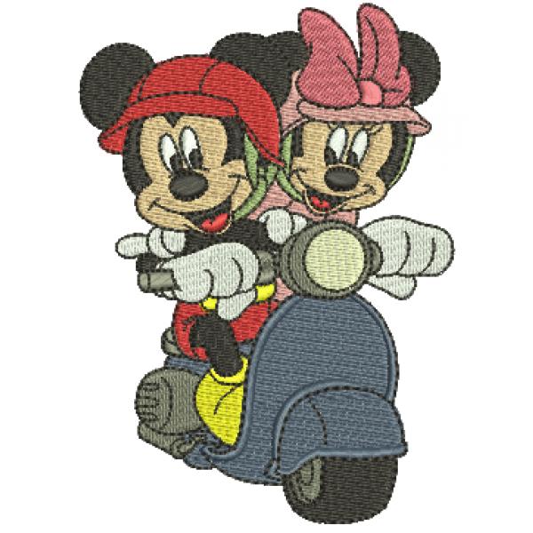 Mickey e Minnie  Moto - Ponto Cheio
