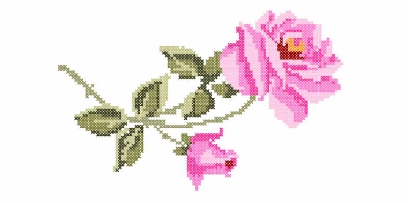 Galho de Rosas - Ponto Cruz