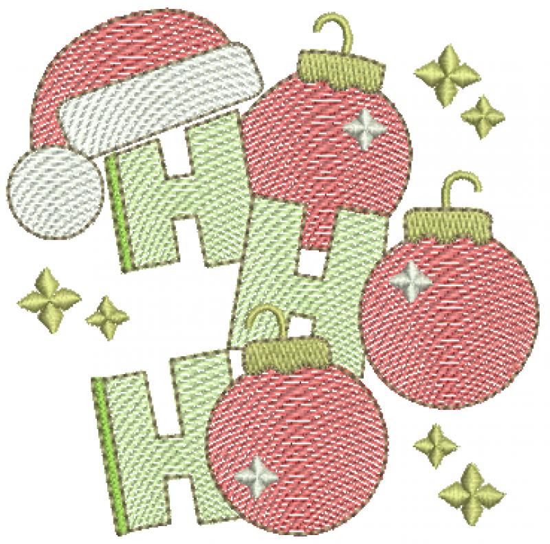 Bolas de natal HO HO HO - Rippled