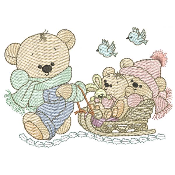 Urso e Ursinhos Trenó - Pontos Leves