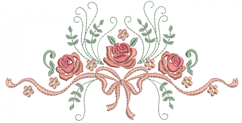 Laço com Ramos de Rosas Requinte